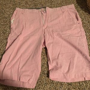best loved f513d 6d0d4 Pink and White Vertical Striped Khaki Shorts